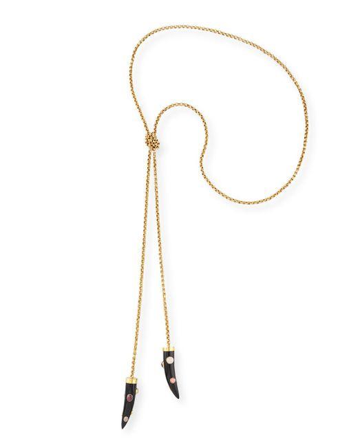 Ashley Pittman | Metallic Upendo Dark Horn Lariat Necklace | Lyst