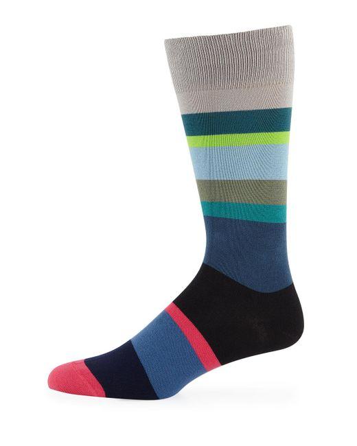 Paul Smith - Gray Men's Mike Stripes Sock for Men - Lyst
