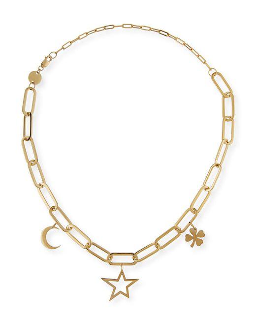 Jennifer Zeuner - Metallic Margarita Chunky Chain Charm Necklace - Lyst