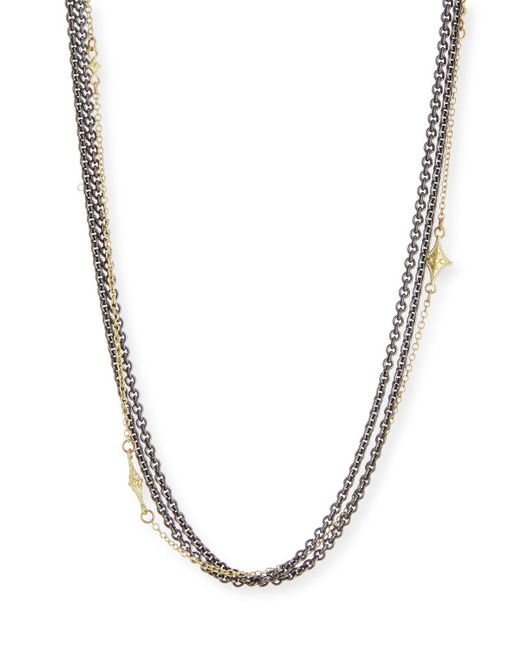 Armenta - Metallic Old World Multi-strand Chain Necklace - Lyst