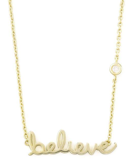 Shy By Sydney Evan | Metallic Believe Pendant Bezel Diamond Necklace | Lyst