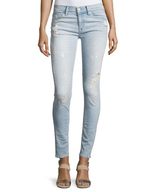 Hudson | Blue Nico Mid-rise Super Skinny Jeans | Lyst