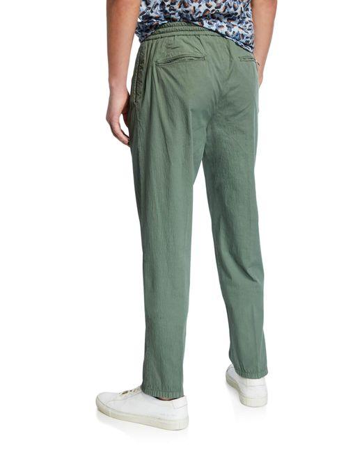 Marco Pescarolo Cotton Men S Solid Seersucker Pants Green For Men