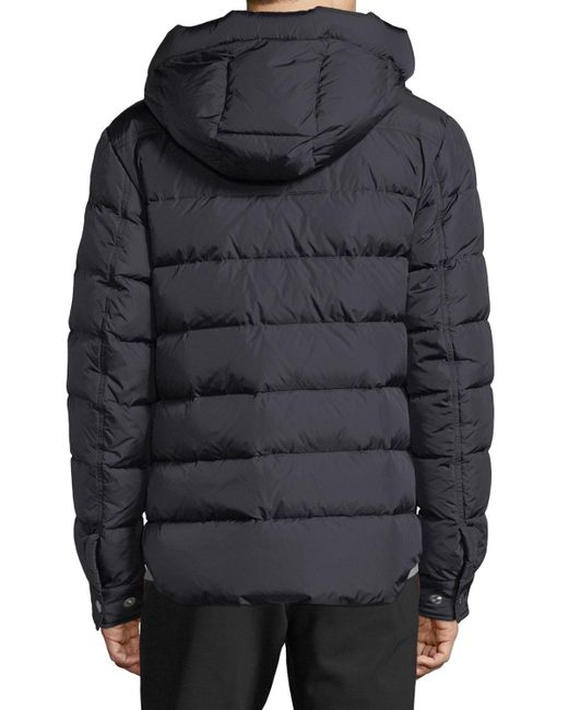 68ee26d45 Lyst - Moncler Men s Prevot Hooded Puffer Jacket With Pocket in Blue ...