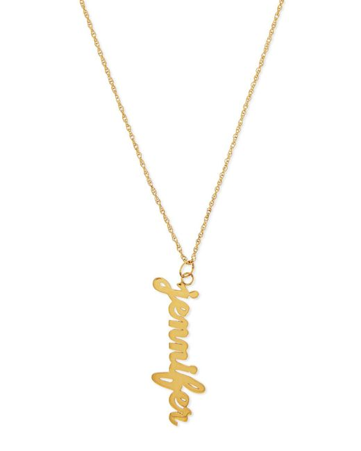 Jennifer Zeuner - Metallic Serafina Vertical Gold Vermeil Necklace - Lyst