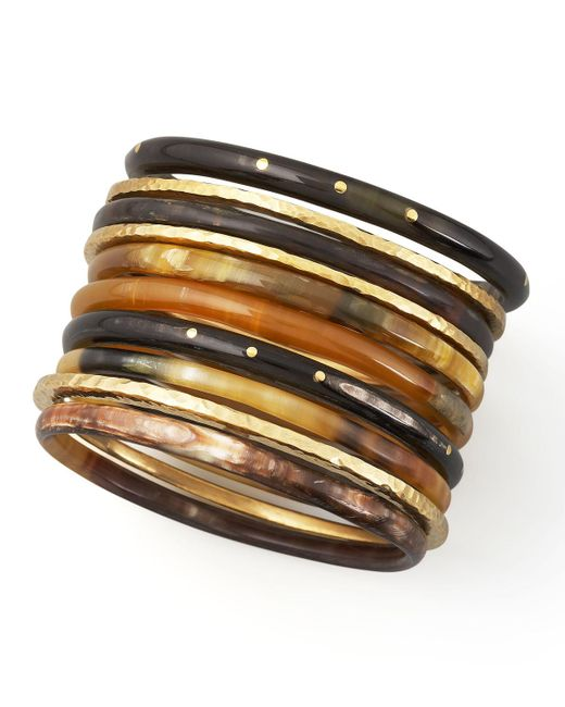 Ashley Pittman - Brown Bamba Bangle Set - Lyst