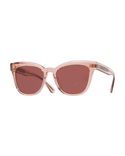Oliver Peoples - Pink Marianela Rounded Plastic Sunglasses - Lyst