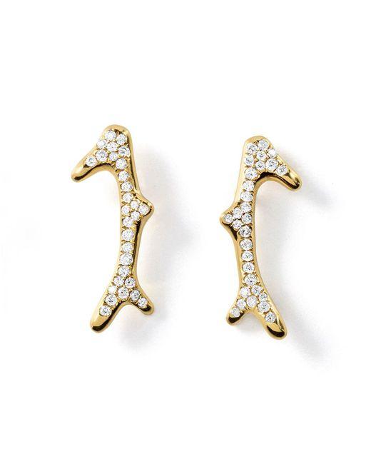 Ippolita   Metallic 18k Glamazon Pavé Diamond Reef Earrings   Lyst