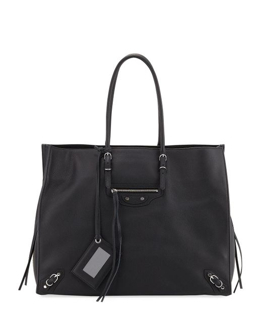 Balenciaga - Black Papier A4 Zip-around Tote Bag - Lyst