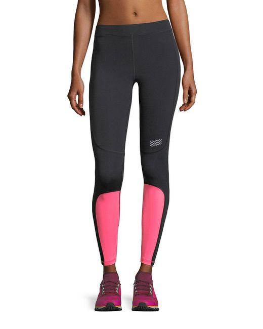 Monreal London - Black Sprinter Colorblocked Performance Leggings - Lyst