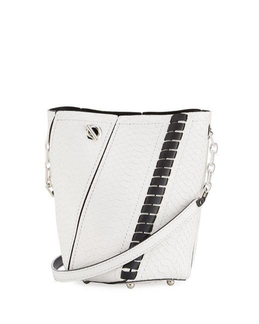 Proenza Schouler | White Hex Mini Whipstitch Python Bucket Bag | Lyst