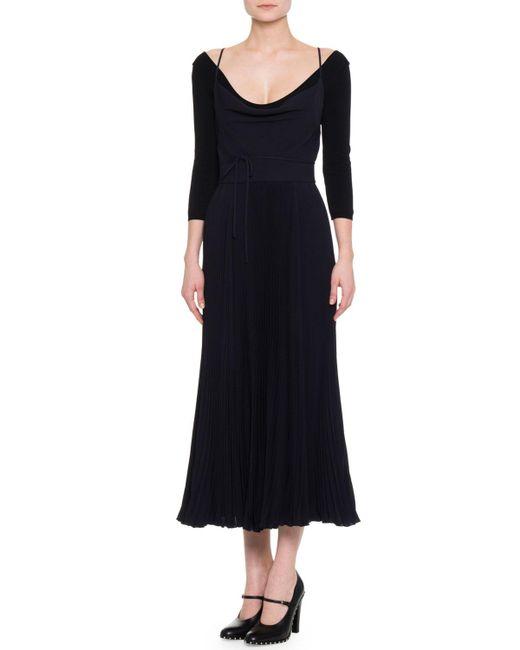 Valentino | Blue Sleeveless Strappy Crisscross Midi Dress | Lyst