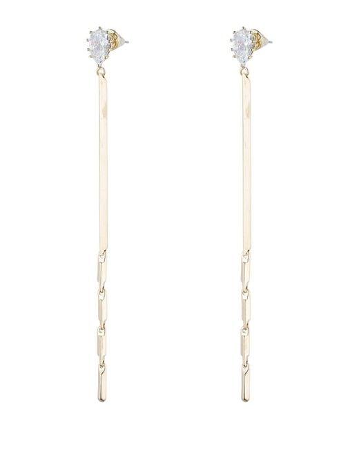 Eddie Borgo   Metallic Glint Linear Drop Earrings   Lyst