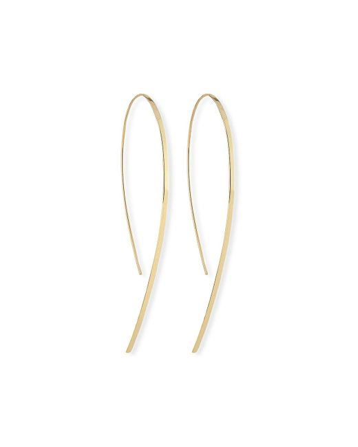 Lana Jewelry Yellow Small Flat Hook-on Hoop Earrings