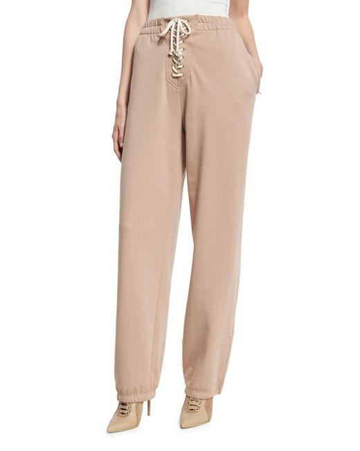 PUMA | Natural Front Lacing High-waist Sweatpants | Lyst