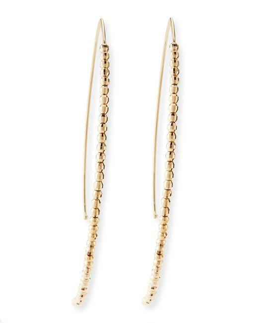 Mizuki | Metallic 14k Gold Beaded Marquise Drop Earrings | Lyst
