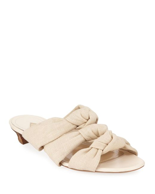 Paul Andrew Natural Three-4-one Canvas Sandals