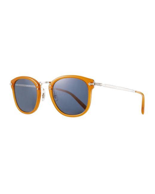 d8c387bc17 Oliver Peoples - Blue Men s Op-506 Acetate metal Sunglasses - Lyst ...