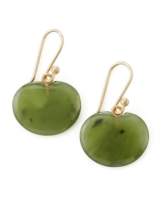 Ted Muehling - Green Lily Pad Jade Earrings - Lyst