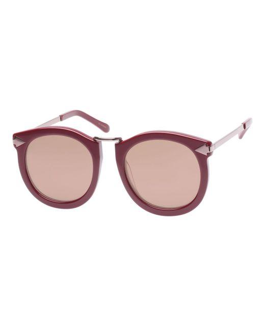 Karen Walker - Multicolor Super Lunar Round Mirrored Sunglasses - Lyst
