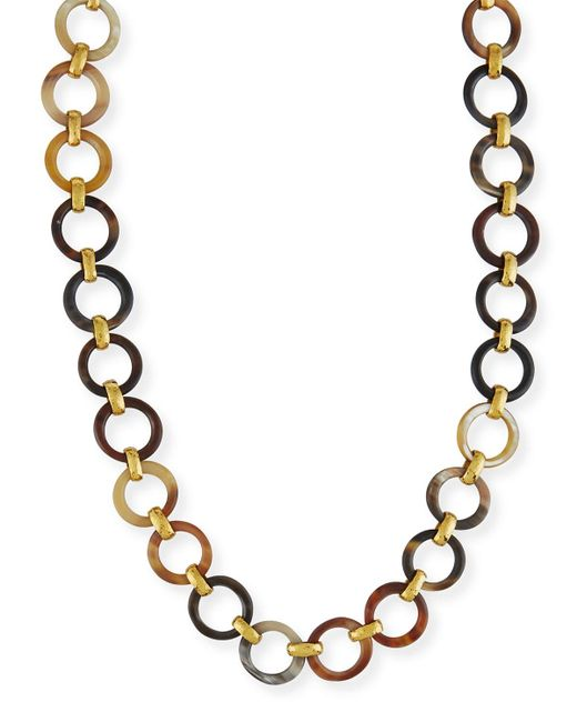 Ashley Pittman | Metallic Mtego Mixed Horn Link Necklace | Lyst
