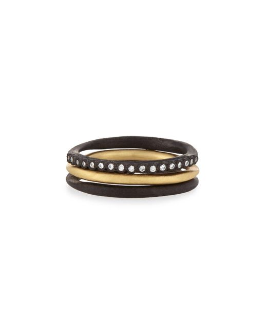 Armenta | Metallic Old World Midnight Stacking Rings | Lyst