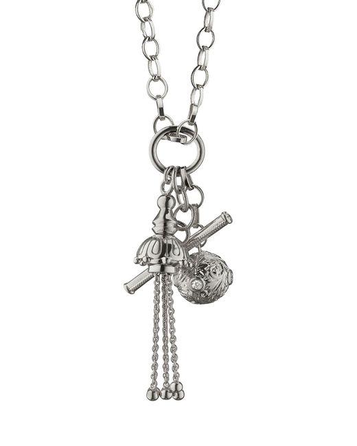 Monica Rich Kosann | Metallic Sterling Silver Charm Pendant Necklace | Lyst
