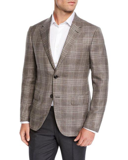 Ermenegildo Zegna Gray Men's Check Sport Coat for men