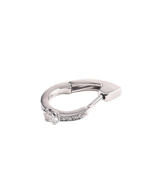Repossi - Metallic Harvest Single Pin Earring With One Oval-cut Diamond In 18k Gold - Lyst
