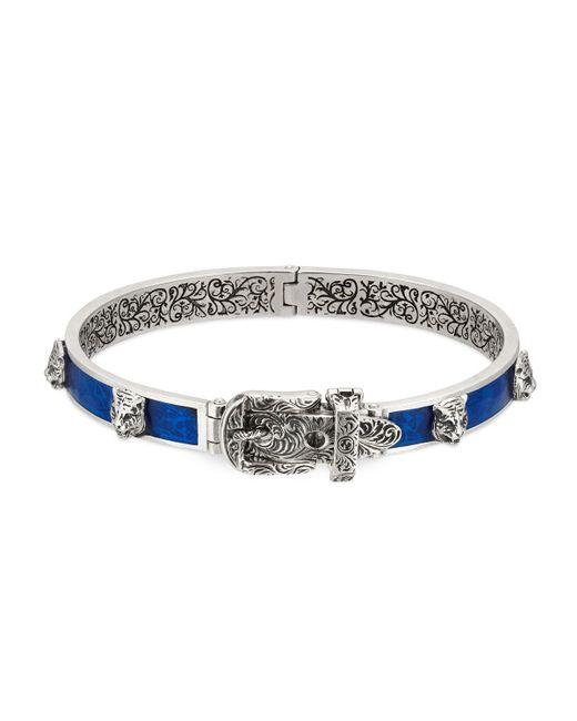 Gucci - Multicolor Men's Enamel & Feline Head Bracelet for Men - Lyst