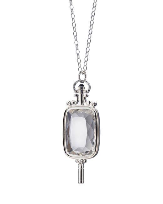 Monica Rich Kosann | Metallic Silver Pocketwatch Key Necklace | Lyst