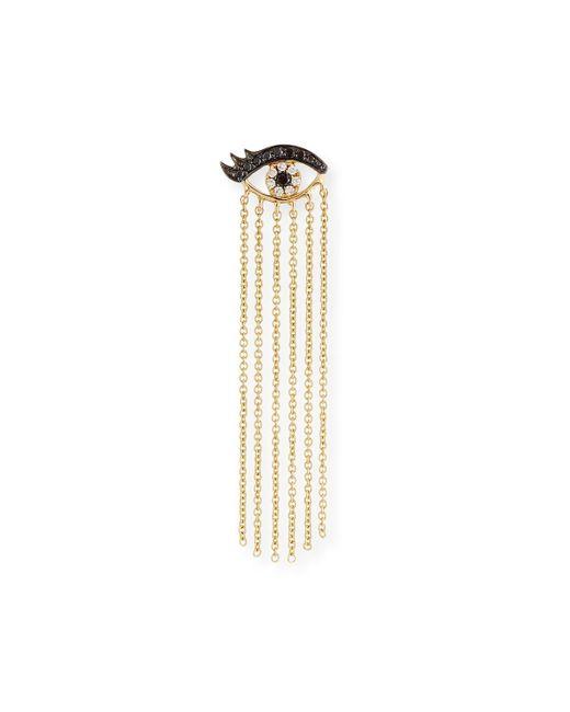 Sydney Evan - Metallic 14k Long Fringe Lash Stud Earring With Diamonds - Lyst