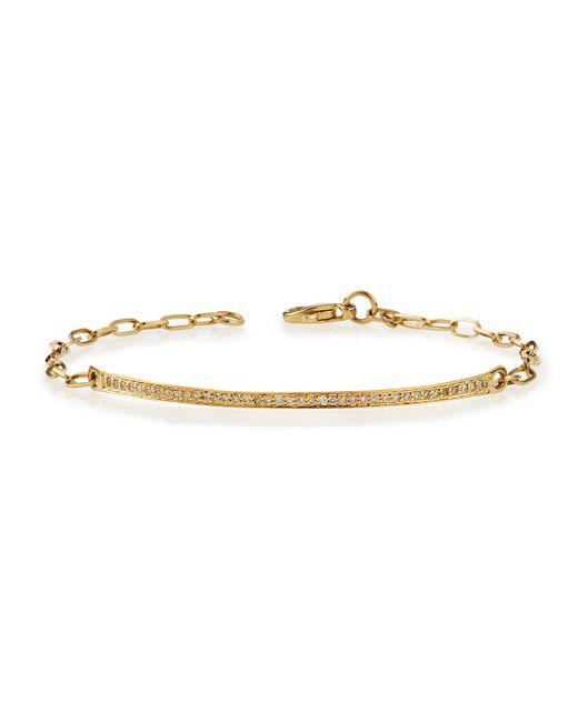 Sydney Evan - Metallic 14k Gold Thin Diamond Bar Bracelet - Lyst