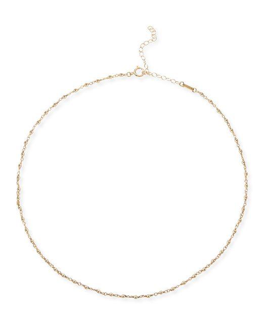 Mizuki Metallic 14k Gold Wrapped Bead Choker Necklace
