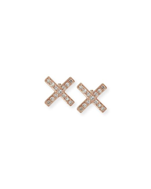 EF Collection - Metallic Diamond X Stud Earring Pair - Lyst