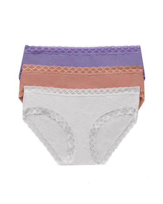 Natori | Multicolor Three-pack Bliss Cotton Girl Briefs | Lyst