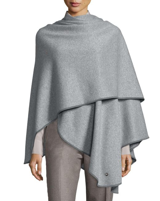 Loro Piana - Gray Regina Leather-trim Cashmere-blend Cape - Lyst