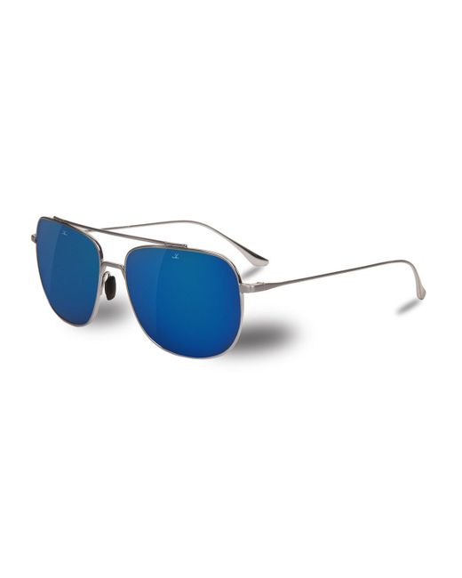 Vuarnet - Metallic Swing Titanium Rectangular Aviator Sunglasses for Men - Lyst