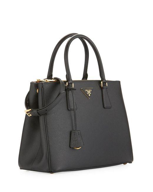 Prada Leather Medium Galleria Saffiano Tote In Nero Black