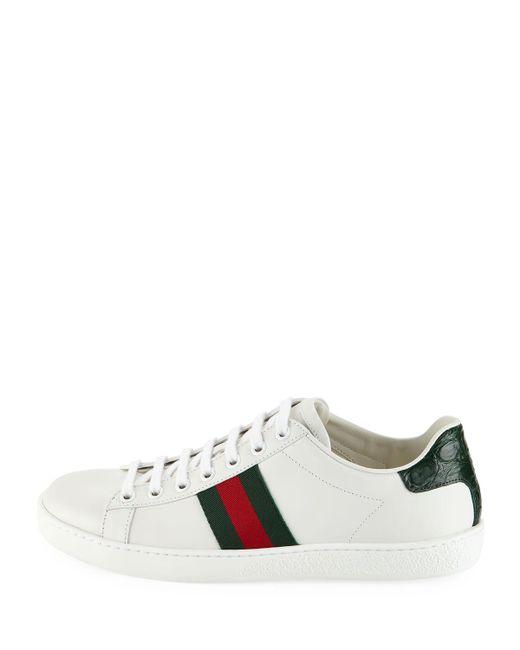 cd47df5de79 ... Lyst Gucci - Multicolor Ace Star   Bee Fold-down Sneakers ...