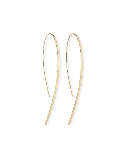 Lana Jewelry Metallic Small Flat Hook-on Hoop Earrings