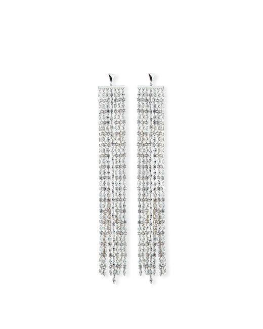 Fallon - Metallic Marquis Crystal Waterfall Earrings - Lyst