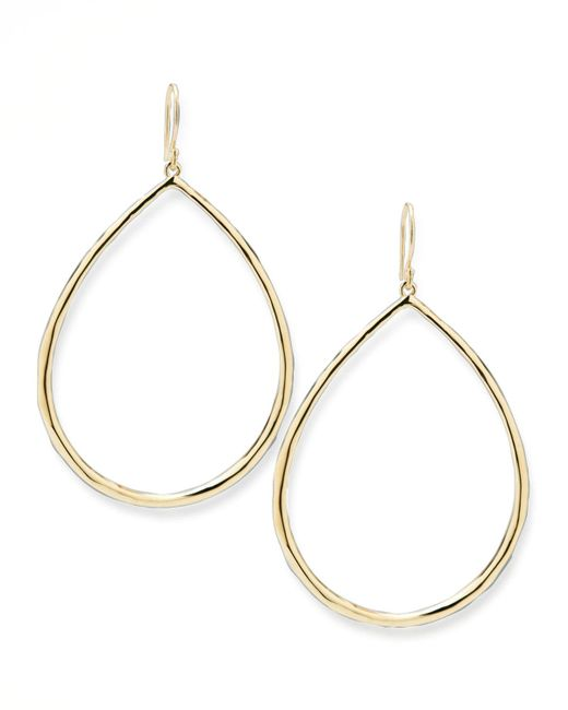 Ippolita | Metallic Wire Teardrop Hoop Earrings | Lyst