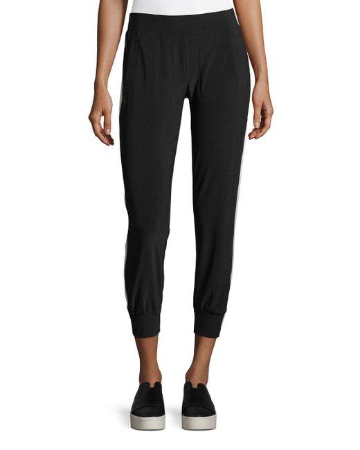 Norma Kamali | Black Side-stripe Jogger Pants | Lyst