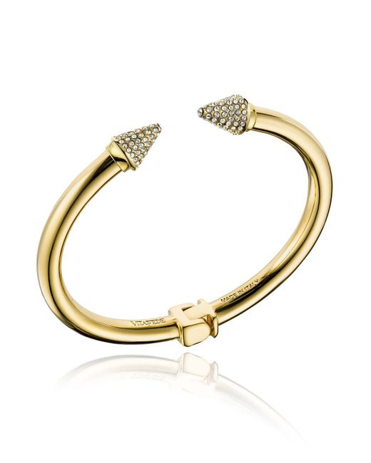 Vita Fede - Metallic Mini Titan Hinged Crystal Bracelet - Lyst