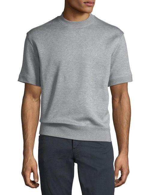 new style bc5ec 4c025 Men's Gray Cotton-blend Short-sleeve Felpa Top