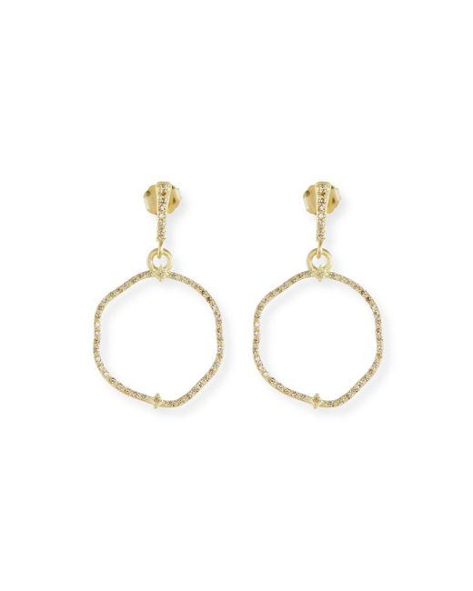 Armenta - Multicolor Old Word Sueno Wavy Circle Earrings With Diamonds - Lyst