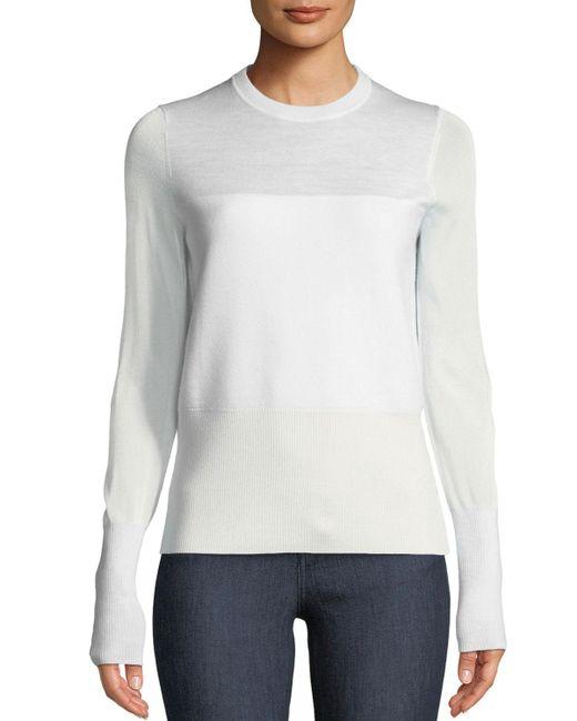 Rag & Bone - White Marissa Crewneck Long-sleeve Pullover - Lyst