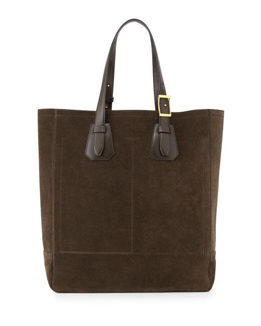 Tom Ford | Natural Olive Suede Tote Bag for Men | Lyst