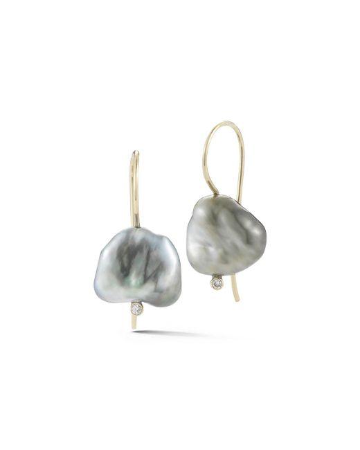 Mizuki - Metallic Sea Of Beauty Pearl & Diamond Drop Earrings - Lyst